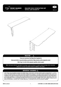 Installation instructions for SSDS115