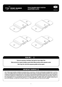 Installation instructions for RRAC018