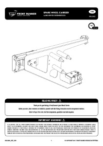 Installation instructions for RBLD002