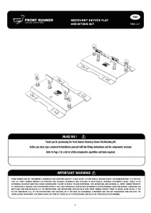 Installation instructions for RRAC147
