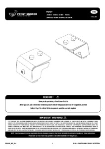 Installation instructions for FASS013