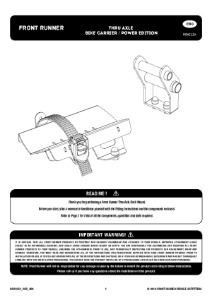 Installation instructions for RRAC154