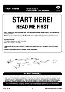 Installation instructions for FATT004