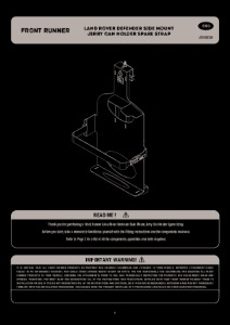 Installation instructions for JCHO018