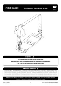 Installation instructions for JCHO012