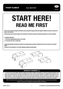 Installation instructions for GOFR001