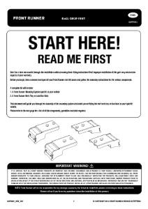 Installation instructions for GOFR001