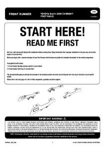 Installation instructions for FATR001