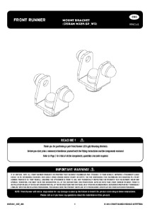 Installation instructions for RRAC161