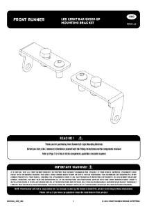 Installation instructions for RRAC163