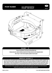 Installation instructions for GBHO014