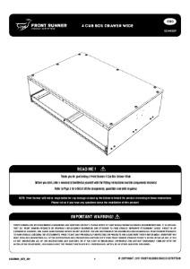 Installation instructions for SSAM009