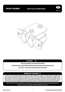 Installation instructions for RRAC165