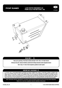 Installation instructions for WTLD002