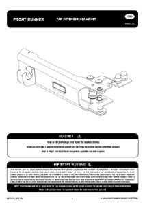 Installation instructions for RRAC170