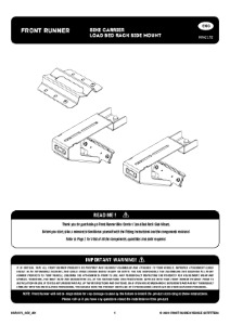 Installation instructions for RRAC172