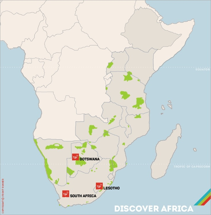Africa Routes Map